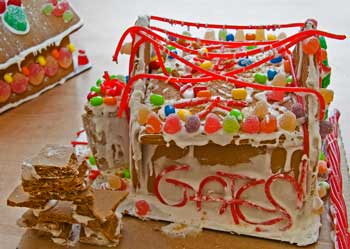 Gates Group gingerbread house