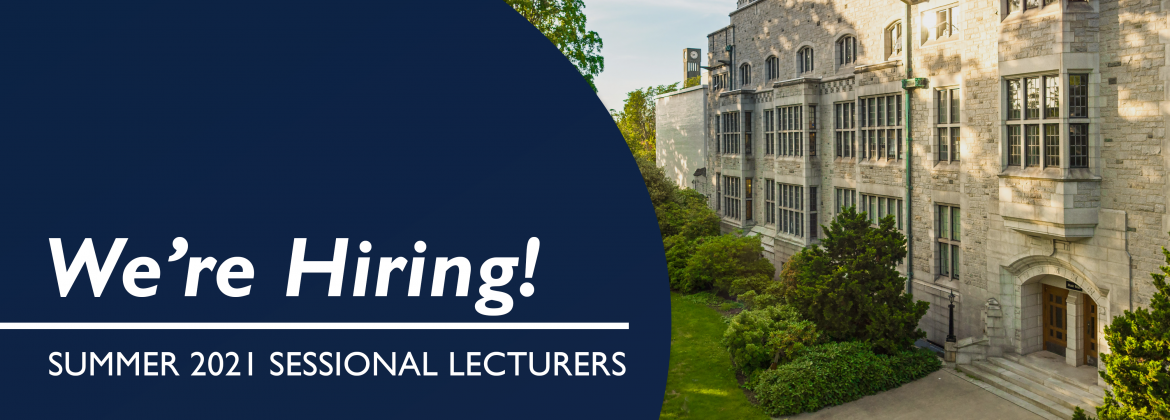 Hiring for Summer 2021 Sessional Lecturers